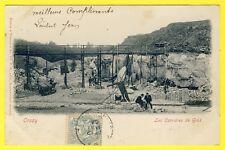 cpa RARE 91 ORSAY (Essonne) Les CARRIÈRES de GRÈS Animé PAVÉS de PARIS Dos 1900