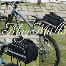 Cycling Bicycle Bike Pannier Saddle Rear Rack Seat Shoulder Bag Rain Cover BG
