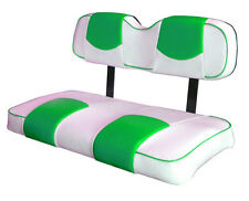 EZ-GO TXT Golf Cart Deluxe™Vinyl Seat Covers-Staple On(White/Parakeet Top-PPng)