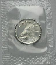 Canada 1974 10 CENTS Coin - BU UNC in Pliofilm Numismatic Collectors Strike
