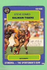 1990  BALMAIN TIGERS   RUGBY LEAGUE CARD #13  STEVE EDMED