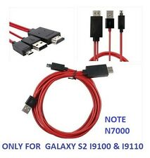 2m 1080P Micro USB MHL to HDMI Cable adapter HDTV SAMSUNG GALAXY S2 I9100 I9110