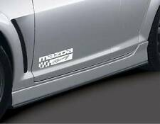 MAZDA RACING 2 3 5 7 RX7 RX8 Miata Mazdaspeed Decal sticker emblem logo Pair WHT