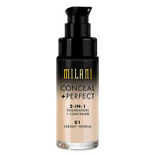 MILANI Conceal + Perfect 2-In-1 Foundation + Concealer CREAMY VANILLA 01 pump
