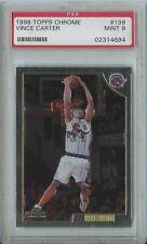 Vince Carter 1998 99 Topps Chrome Basketball #199 Raptors RC Rookie Mint PSA 9