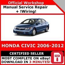 # FACTORY WORKSHOP SERVICE REPAIR MANUAL HONDA CIVIC 2006-2012 +WIRING