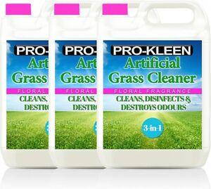 ARTIFICIAL GRASS CLEANER LAWN ASTROTURF PET DISINFECTANT DEODORISER FLORAL 15L