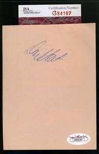 Don Hoak Album Page Jsa Signed Authentic Autograph