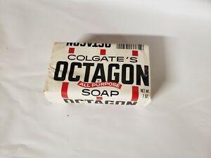 Vintage Colgate Octagon Soap 7 oz. Bar In Package