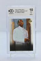 2003 Upper Deck LEBRON JAMES #7 - ROOKIE CARD RC - BECKETT BCCG 10 Mint Box Set