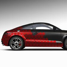 Seitendekor Auto Aufkleber Abstrakt Cyber Pixel Hexagon Sticker Tuning #1272