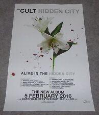 The Cult Hidden City Original Promo Poster 11x17 inches