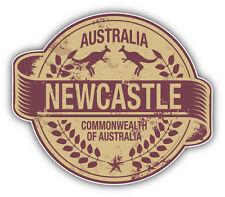 "Newcastle City Australia Grunge Travel Stamp Car Bumper Sticker Decal 5"" x 4"""