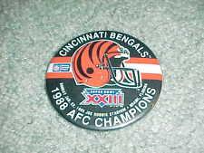 1988 Cincinnati Bengals Super Bowl XXIII Football Helmet Button AFC Champions