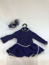 American Girl Today Ice Skating Star Outfit purple dress accessories 1997