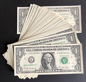 2013 Dallas $1 Consecutive Star Notes - UNC Lot Of 56 (P904)