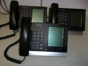 LOT OF 3 TOSHIBA IP5531-SDL IP BUSINESS PHONES WITH POWER SUPPLIES