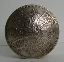 Vintage British 1953 Crown Coin Screw Lid Snuff Pot / Pill Box / Keepsake Gift