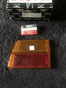 Rolls-Royce Camargue 1976-86 Rear Left Tail Lamp Lens Amber Red CD5837 NOS OEM