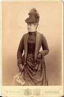 CAB photo Feine Dame / Schauspielerin Charlotte Basté / signiert - Dresden 1888