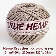 TRUE HEMP big ball - NATURAL(no dye) 3mm /100lb