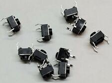10 Pcs Mini Tactile Push Button Momentary Switch 6x6x5mm 4 Pin Spst Pcb