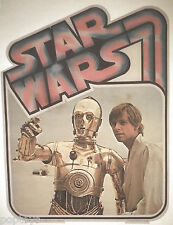 T-SHIRT TRANSFER '77 iron-on Star Wars UNUSED Factors MIP C-3PO Luke desert