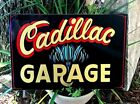 Vintage Cadillac Shop Hot Rat Rod Car Hand Painted Chevy Garage Sign Pinstriped