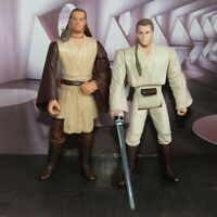 "2 x STAR WARS Jedi  3.75"" Action Figures   Qui-Gon Jinn and Obi-Wan Kenobi"