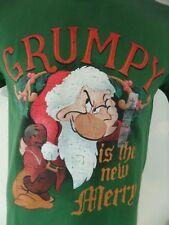 Grumpy Is The New Merry Snow White Christmas Small Men's T Shirt Seven Dwarfs