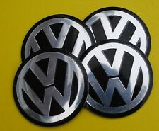 VW Wheel Hub Caps Badge Emblem Stickers METAL 50mm Set OF 4 high QUALITY
