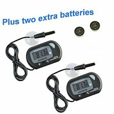 Aquaneat Aquarium Digital Thermometer Fish Tank Water Terrarium Batteries Extra