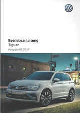 VW TIGUAN 2 Bedienungsanleitung 2017 Betriebsanleitung Handbuch Bordbuch BA