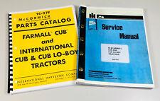 Farmall International Cub Amp Cub Lo Boy Tractor Service Manual Parts Catalog Ih