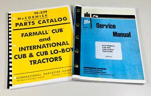 FARMALL INTERNATIONAL CUB & CUB LO-BOY TRACTOR SERVICE MANUAL PARTS CATALOG IH