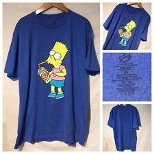 Bart Simpson The Simpsons XL Hypnotized Krusty Burger Shake Blue T-shirt A3226