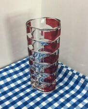 Lovely French  Ruby And Clear Glass Vase