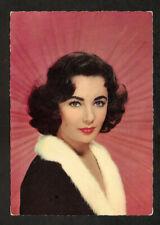ELIZABETH TAYLOR  POSTCARD  VINTAGE 1950s REAL PHOTO JAGGED OUTLINE CARD