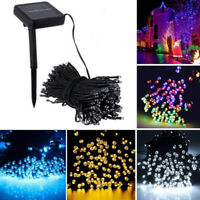 12M 100LED Solar Power Fairy Light String Lamp Party Xmas Decor Garden Outdoor D