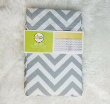 Circo Baby Crib Skirt Grey & White Chevron Zig Zag Standard Size 28x52