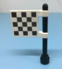 Vinatge Lego 2335 Checkered White & Black Pattern Flag Pole 8679 8206 8423 6395
