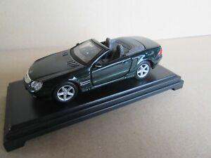 588K Maisto Mercedes-Benz Sl R230 Cabriolet 2001 Green 1:3 8