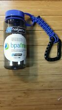 Nalgene 16 oz Tritan Wide Mouth Water Bottle - grey/blue with paracord lanyard!