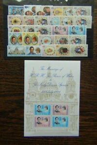 1981 Royal Wedding MNH Gibraltar GB Falklands & Dependencies Fiji Hong Kong