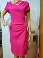 NEW L.K BENNETT FITTED SHEATH DRESS SIZE UK 14 US 10 PINK