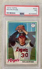 New listing 1978 Topps #400 Nolan Ryan Baseball Card Near Mint PSA 7