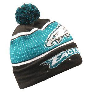 Philadelphia Eagles Big Logo Light Up Beanie Winter Hat Toque Cuffed Pom 18 Knit