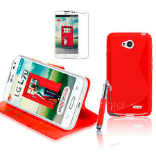 RED Wallet 4in1 Accessory Bundle Kit Case Cover For LG L70