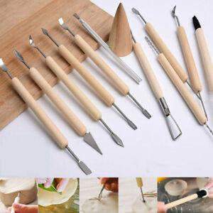 11Pcs Polymer Clay Sculpting Tool Set Wood Models Art Projects Pottery Tools Set