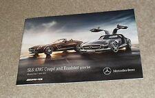 Mercedes SLS AMG Coupe & Roadster Guía de precios & Folleto de especificación 2012